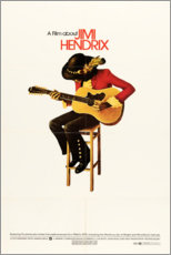 Póster  Jimi Hendrix 1973 - Entertainment Collection