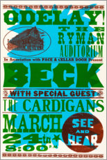 Póster Beck & The Cardigans, año 1990
