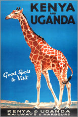 Póster  Kenia y Uganda (inglés) - Travel Collection