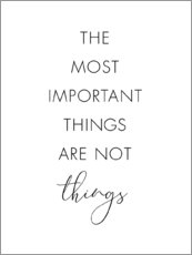 Póster The most important things