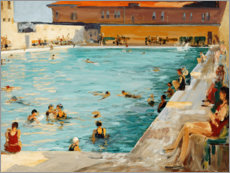 Póster  La piscina, Palm Beach - Sir John Lavery