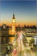 Póster  Big Ben y Westminster Bridge al anochecer - Fraser Hall