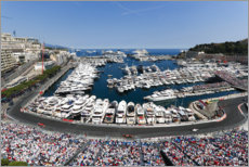 Lienzo  The Formula 1 circuit in Monte Carlo, Monaco 2017