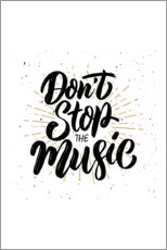 Póster Don't stop the music