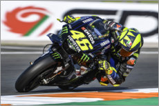 Póster  Valentino Rossi, Yamaha Factory Racing, Valencia 2019