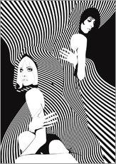 Vinilo para la pared  Op Art Chicks - JASMIN!