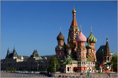 Vinilo para la pared  St. Basil's Cathedral on Red Square in Moscow - Walter Bibikow