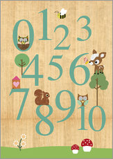 Vinilo para la pared  Educational Numbers - learn to count - GreenNest