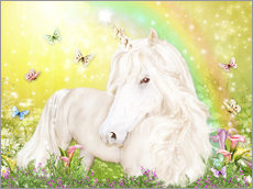 Cuadro de plexi-alu  Unicorn of Happiness - Dolphins DreamDesign