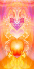 Cuadro de plexi-alu  Spirit Love - I follow my loving heart - Dolphins DreamDesign