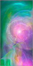 Cuadro de plexi-alu  Spirit Love - I am open to the divine power - Dolphins DreamDesign