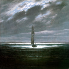 Cuadro de plexi-alu  Seascape in the Moonlight - Caspar David Friedrich