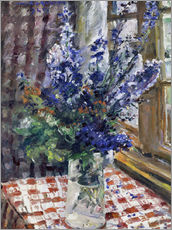 Cuadro de plexi-alu  Glass vase with Larkspur. 1924 - Lovis Corinth