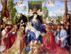 Lienzo  The Feast of the Rosary - Albrecht Dürer