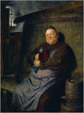 Vinilo para la pared  Brother master brewer of beer in the cellar. In 1902. - Eduard Grützner