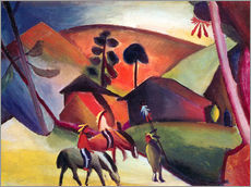 Vinilo para la pared  Indios a caballo - August Macke