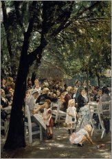 Vinilo para la pared  Munich beer garden - Max Liebermann