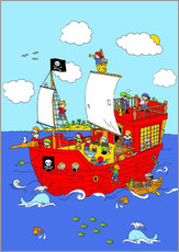 Vinilo para la pared pirate ship scene