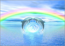 Vinilo para la pared  Dolphins Rainbow Healing - Dolphins DreamDesign