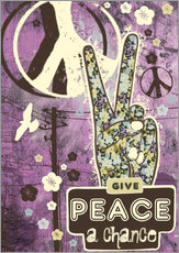Vinilo para la pared  give peace a chance - Elisandra Sevenstar