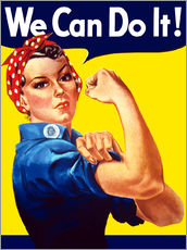 Vinilo para la pared  Rosie The Riveter vintage war poster from World War Two - John Parrot