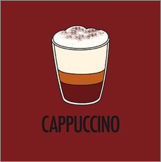 Vinilo para la pared  Cappuccino, for the italian lover in you! - JASMIN!