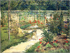 Cuadro de plexi-alu  The Bench in the Garden of Versailles - Edouard Manet