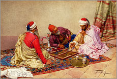 Cuadro de plexi-alu  The backgammon players - Giulio Rosati