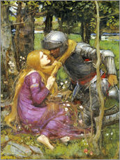 Cuadro de plexi-alu  Un estudio para La Belle Dame sans Merci - John William Waterhouse