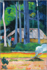 Cuadro de madera  Hut in the Trees - Paul Gauguin