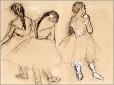 Vinilo para la pared  Three Dancers - Edgar Degas