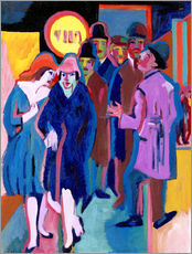 Vinilo para la pared  Night-time Street Scene - Ernst Ludwig Kirchner