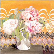 Vinilo para la pared  Peonies - Charles Rennie Mackintosh