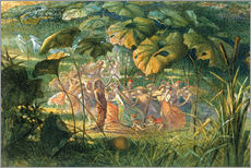 Vinilo para la pared  Fairy Dance in a Clearing - Richard Doyle