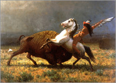 Cuadro de plexi-alu  The Last of the Buffalos - Albert Bierstadt