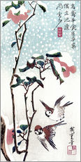 Cuadro de plexi-alu  Snow, Moon and Flowers - Utagawa Hiroshige