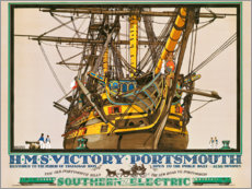 Lienzo  H.M.S. Victory, Portsmouth - Kenneth Shoesmith