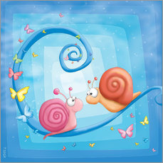Vinilo para la pared blue snails
