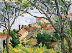 Vinilo para la pared  View of L'Estaque Through the Trees - Paul Cézanne