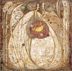 Vinilo para la pared  El corazón y la rosa - Margaret MacDonald Mackintosh