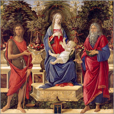 Vinilo para la pared  madonna with saints - Sandro Botticelli