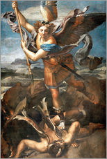 Cuadro de plexi-alu  St.Michael kills the demon - Raffael