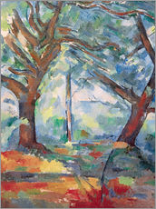 Vinilo para la pared  Large trees - Paul Cézanne