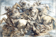 Cuadro de plexi-alu  Battle of Anghiari, sketch - Peter Paul Rubens