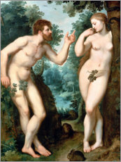 Cuadro de metacrilato  Adam and Eve under the Tree of Knowledge - Peter Paul Rubens