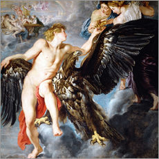 Cuadro de plexi-alu  Abduction of Ganymede - Peter Paul Rubens