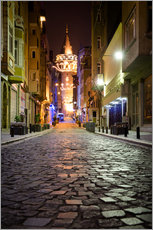 Cuadro de plexi-alu  The famous Galata-Tower at night (Istanbul/Turkey) - gn fotografie