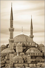 Vinilo para la pared  the blue mosque in sepia (Istanbul - Turkey) - gn fotografie