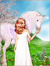 Cuadro de plexi-alu  Angel and Unicorn - Dolphins DreamDesign