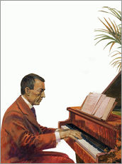 Vinilo para la pared  Rachmaninoff playing the piano - Andrew Howat
